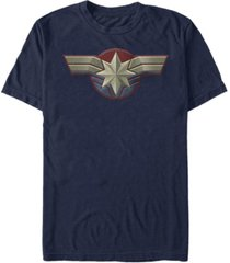 captain marvel men's uniform costume short sleeve t-shirt