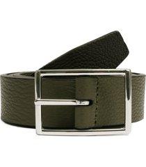 anderson's belts grain leather belt | khaki & black | a3346fd-m1v4