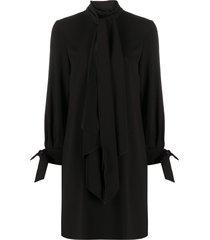 paule ka tie-detail shift dress - black