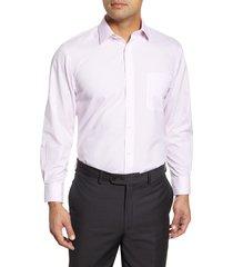 men's big & tall nordstrom men's shop smartcare(tm) traditional fit check dress shirt, size 19.5 - 38/39 - pink