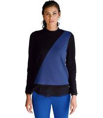 shirt amy vermont zwart::royal blue