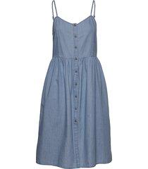 tjw chambray strap dress korte jurk blauw tommy jeans