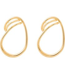 charlotte chesnais vermeil maxi round trip hoop earrings - gold