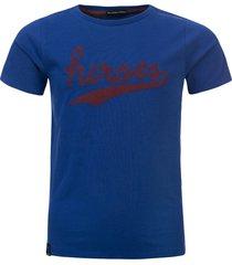 common heroes kobalt t-shirt borduur logo voor jongens in de kleur