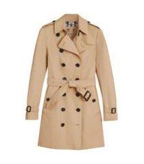 burberry trench coat com cinto - neutro