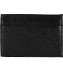 polo ralph lauren men's wallet, pebbled credit card case and money clip