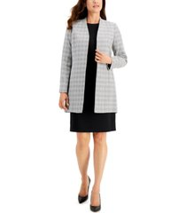 le suit plaid tweed jacket dress suit