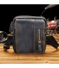borsa a tracolla con chiusura a zipper per esterni