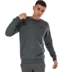 mens ua rival fleece fitted crew sweatshirt