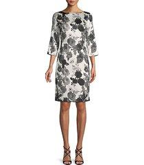 floral-print stretch-silk sheath dress