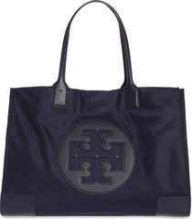 tory burch ella nylon tote - blue