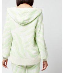 kitri women's jordana knitted hoodie - mint - l