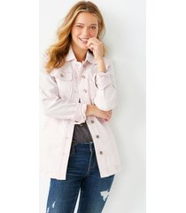 maurices womens pink belted denim trench coat