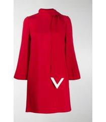 valentino vlogo scarf shift dress