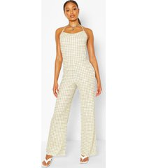 halter neck strappy jumpsuit, sage