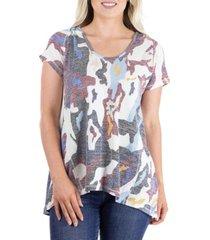 women's short sleeve camouflage print hoodie top