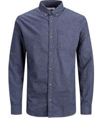 skjorta jjeclassic melange shirt l/s au20 ps
