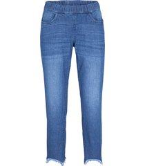 stretchiga push up-jeans med bekväm låg midja, smal passform