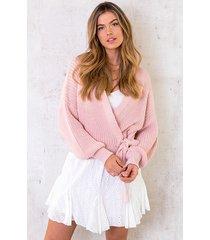 strik vest gebreid pastel roze