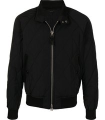tom ford harrington quilted bomber jacket - black