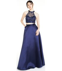 say yes to the prom juniors' 2-pc. embellished halter gown, created for macy's