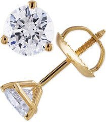 certified 2 ct. t.w. diamond stud earrings in 14k white or yellow gold