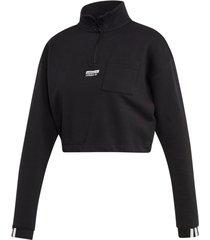 sweatshirt half-zip sweater