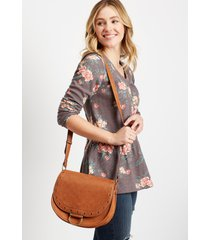 maurices womens brown floral long sleeve henley top