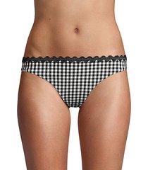 classic gingham scallop bikini bottom