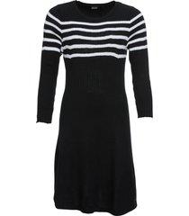 abito in maglia a righe (nero) - bodyflirt