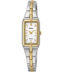 seiko women's solar two-tone stainless steel bracelet watch 15mm sup272