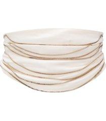 maison martin margiela pre-owned 2000s chain embellished draped belt -