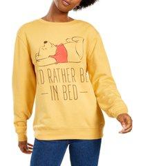 disney juniors' pooh i'd rather be in bed sweatshirt