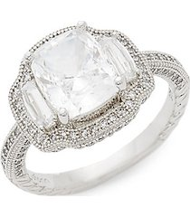 sterling silver & simulated diamond ring