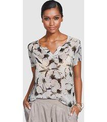 blouse alba moda grijs::lichtgrijs::donkergrijs