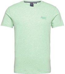 vintage logo emb tee t-shirts short-sleeved grön superdry