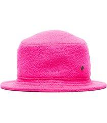 maison michel jason textured bucket hat - fluo pink
