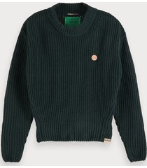 scotch & soda gehaakte trui van chenille