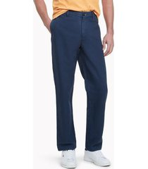 tommy hilfiger men's heritage solid flat-front chino navy - 38/32