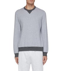 contrast rib sweatshirt