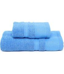 jogo de banho 2pã§s buddemeyer windsor azul - azul - dafiti