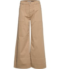 wide leg cotton wijde broek beige please jeans