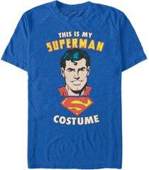 fifth sun superman costume men's short sleeve t-shirt