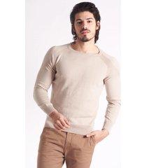 sweater beige mancini cuello redondo