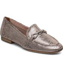 woms slip-on loafers låga skor guld tamaris