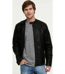 jaqueta masculina biker manga longa mr