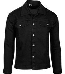 jaqueta masculina jeans preta denim - kanui
