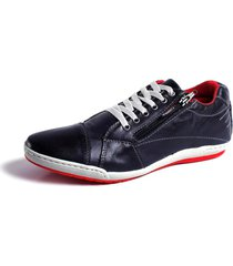 sapatãªnis tchwm shoes stilo couro zãper azul - azul/azul marinho - masculino - dafiti