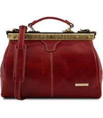 tuscany leather tl10038 michelangelo - borsa medico in pelle rosso