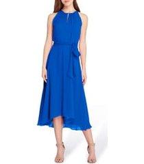 women's tahari sleeveless chiffon midi dress